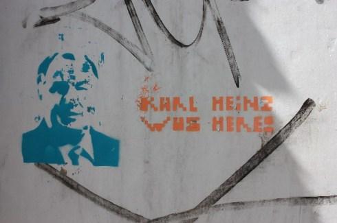 Karl-Heinz Lambertz-Graffito, Eupen 2010