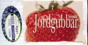 Erdbeeren aus Schweden und Heidelbeeren aus Deutschland