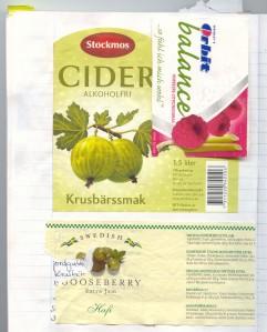 Stachelbeerlimonade und -marmelade aus Schweden, Himbeerkaugummi aus Deutschland