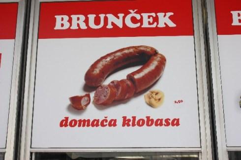 """Werbung für """"heimische Wurst"""", Maribor/Slowenien (Juni 2012)"""