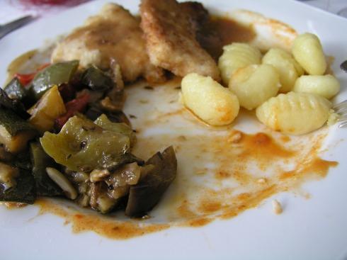 Gnocchi, Gemüse und Fleisch, Aachen 2004