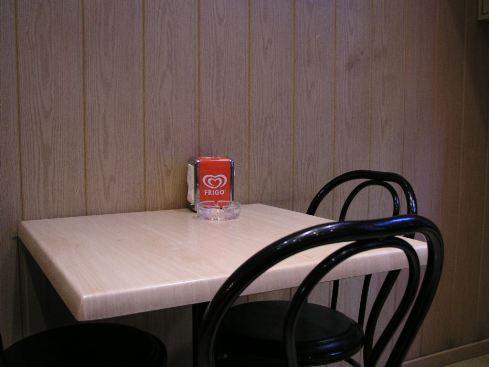 Auch in dieser katalonischen Bar wird Gazpacho serviert, Barcelona 2008