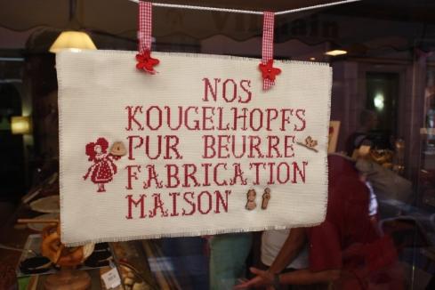 Werbung im Kreuzstich, Ribeauville 2013