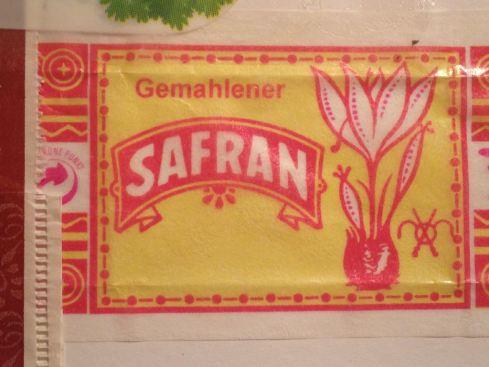 Klassische Safranverpackung, Aachen 2013