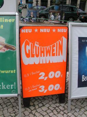 Glühwein – besonders weihnachtlich, Berlin 2008