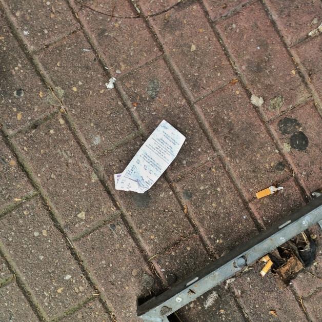 Kassenzettel 001, Düren 2015