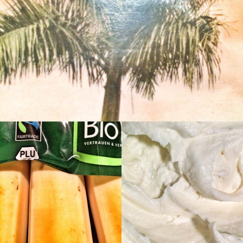 Joghurt, Bananen und Palmzucker