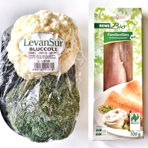 Blumenkohl, Broccoli, Forellenfilet