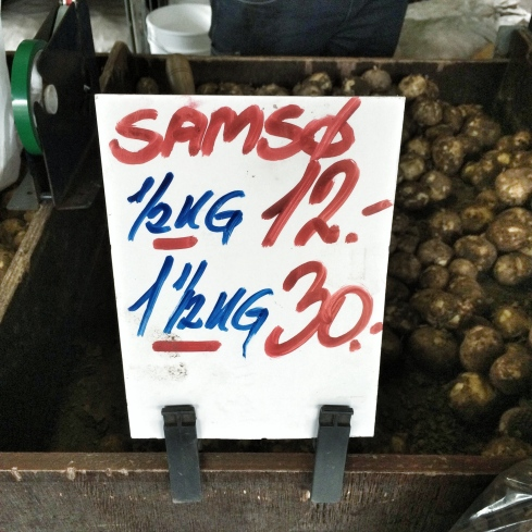 Neue Kartoffeln von der Insel Samsø, Ingerslev Marked, Århus 2016