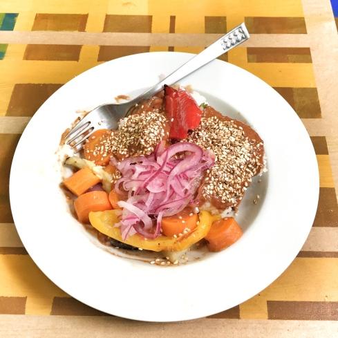 Mole, Gemüse, Korianderreis und Pickled Onions – AHOI 3, Aachen (August 2016)
