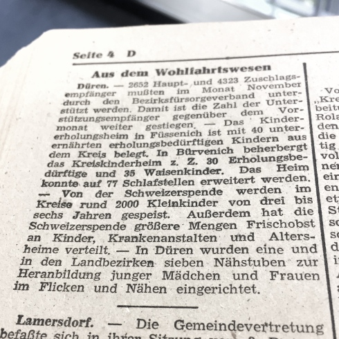 Dürener Zeitung, 14. Dezember 1946