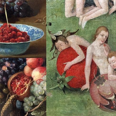 Frans Snyders | Stilleben mit Hummer und Früchten | o.J. Kopie nach Hieronymus Bosch | Der Garten der Lüste | um 1550/60 Jan Davidsz de Heem | Früchte und Blumenkartusche mit Weinglas | 1651