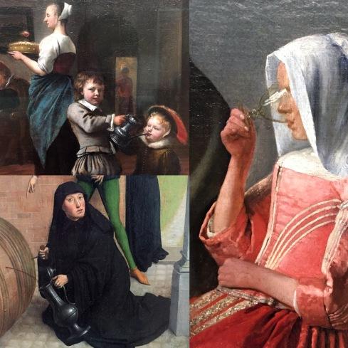 Jan Steen | So de Ouden songen, so pypen de jongen | u, 1663 Jan Vermeer | Das Glas Wein | um 1661|62 Simon Marmion | Szenen aus dem Leben des hl. Bertin | 1459