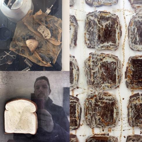 Daniel Spoerri | La table de Robert | 1961 Dieter Roth | Schokoladenplätzchenbild | 1969 Jasper Johns | Bread | 1969