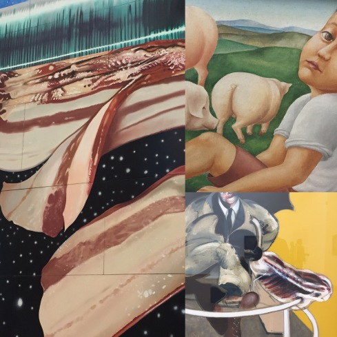 James Rosenquist | Star Thief | 1980 Georg Schrimpf | Schweinehirt | 1923 Francis Bacon | Painting 1946, Second Version | 1971