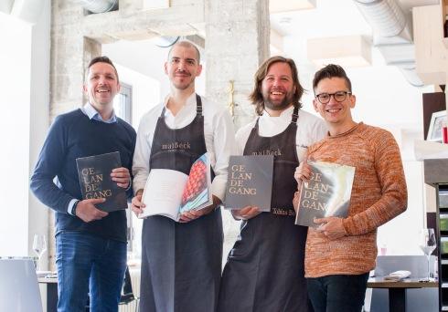 Gelände-Gang: Johannes J. Arens, Jan C. Maier, Tobias Becker und Danny Frede (v.l.n.r.), Köln 2017