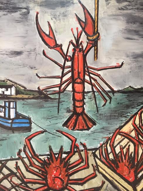 Bretonne et crustacés, Bernard Buffet 1994