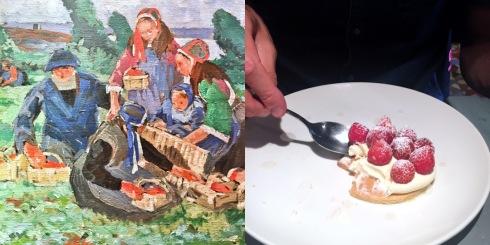 Erdbeeren einst und heute, Brest/Plougastel Juni 2017