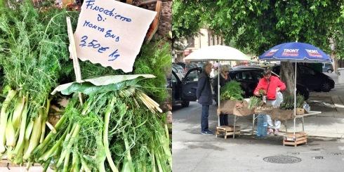 Marktstand mit Fenchel, Palermo 04/2018